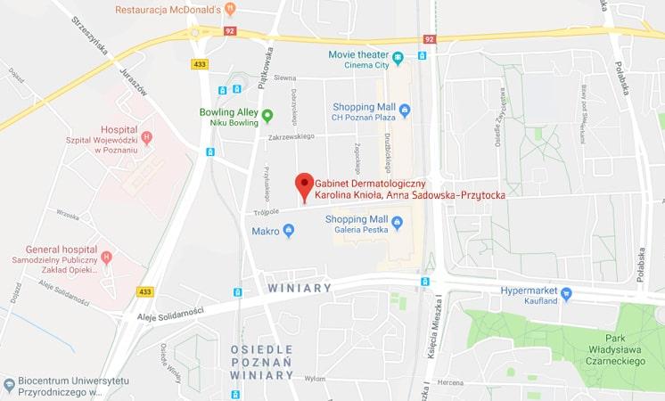 dojazd dermatolog Poznań